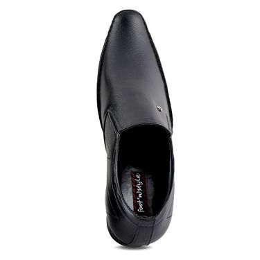 Foot n Style Cordovan Leather Formal Shoes FS 346 -Black
