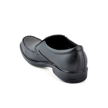 Foot n Style Faux Leather Black Formal Shoes -fs347