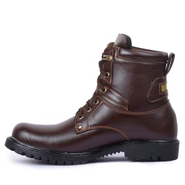 Foot n Style Leather Brown Boots -Fs4015