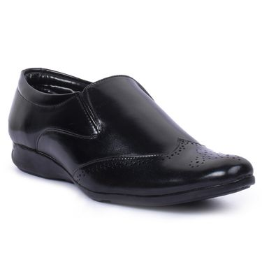 Foot n Style Patent Leather Black Formal Shoes -Fs7002