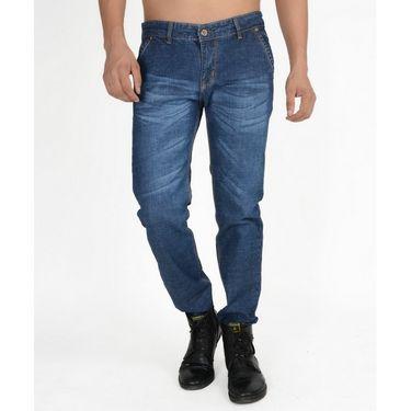 Hollister Plain Casual Cotton Jeans For Men_hldenimb - Blue