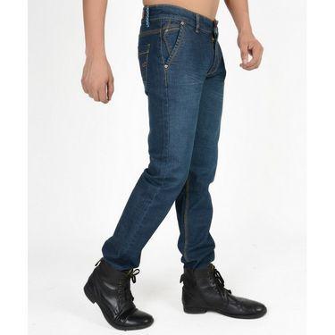 Hollister Plain Casual Cotton Jeans For Men_hldenimdeb - Deep Blue