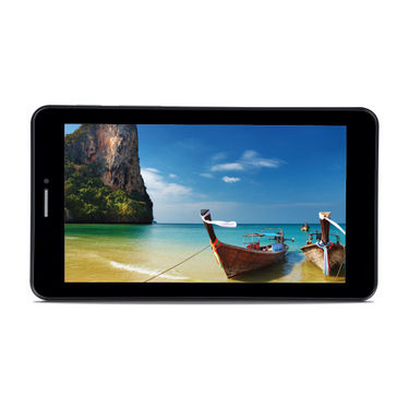 iball Slide 7236 Dual Core 2G Calling Tablet - Black & Silver