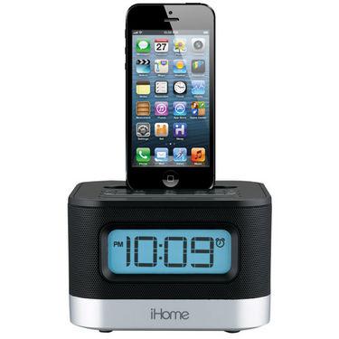 buy ihome ipl10 lightning dock for ipad iphone 5 dual charging stereo alarm. Black Bedroom Furniture Sets. Home Design Ideas
