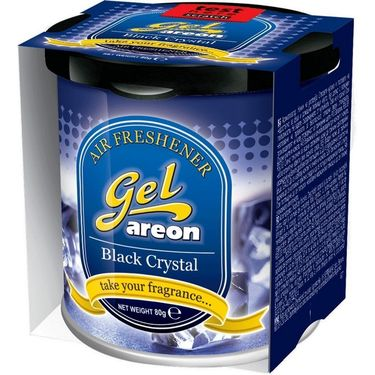 Areon Black Crystal Gel Air Freshener for Car (80 g)
