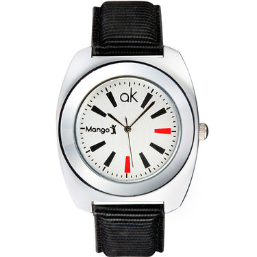 Mango People Analog Round Dial Watch For Men_mp008 - White