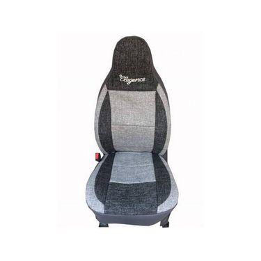 Car Seat Cover For Hyundai Santro Zing-Black & Grey - CAR_11056