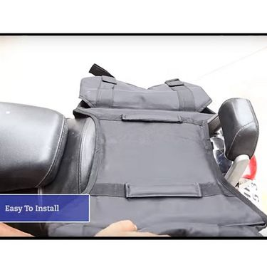 Auto Pearl -Water Proof Bike Twin Saddle Bags Black For All Bikes