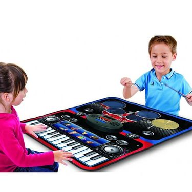 Kids Foldable 2 in 1 Jazz Drum & Musical Piano Playmat