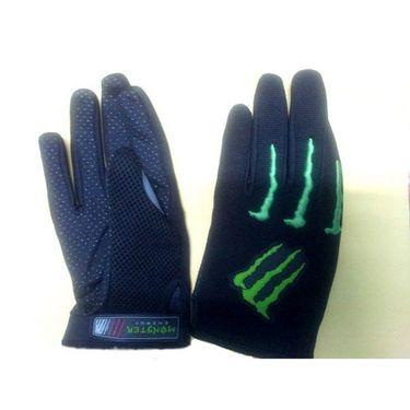 Monster Black & Green Gloves