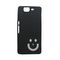 Snooky Black Smiley Back Case Cover For Micromax Canvas Knight A350 Td10309