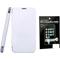Combo of Camphor Flip Cover (White) + Screen Guard for Sony Xperia E