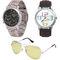 Combo of Dezine 2 Analog Watches + 1 Aviator Sunglasses_DZ-CMB113