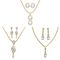Dg Jewels 24k Gold and Silver Plated Bollywood Collection of Beautiful 3 Pendant Set - DGPSCombo004