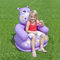 Kids Inflatable Hippo Chair with Head Backrest