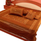 Little India Double Bedcover with 2 Cushion Cover and 2 Pillow Cover - Brown