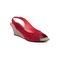 Ten Suade Leather 288 Women's Heel Sandals - Red
