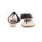 Ten Jute Fabric 296 Women's Sandals - Black