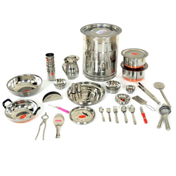 Buy grihalaxmi offer 111 pcs kitchenware set online at for Kitchen set naaptol