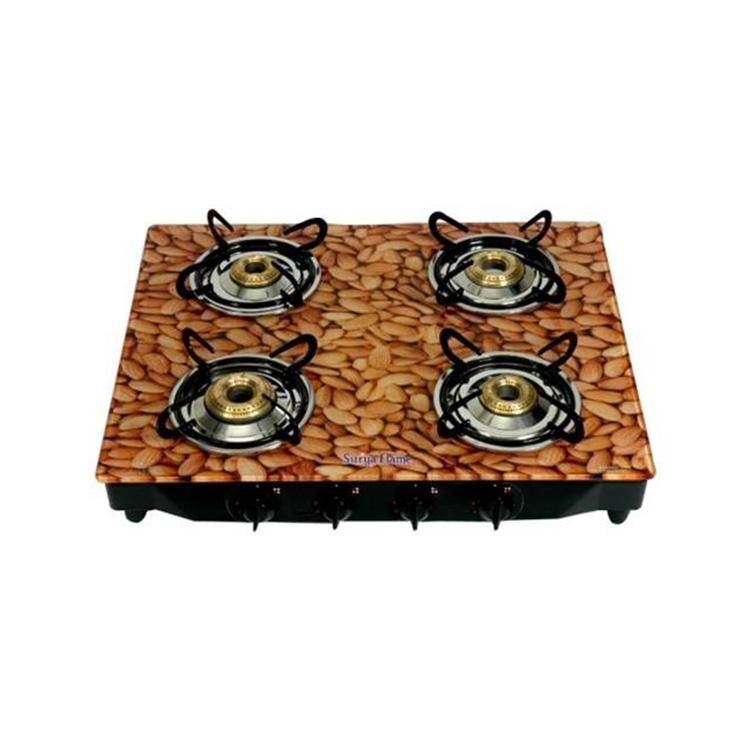 Buy Surya Flame Glaze Almond Ms 4 Burner Ai Glass Cooktop
