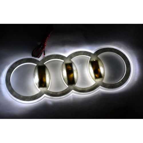 buy audi emblem logo badge car light white online at. Black Bedroom Furniture Sets. Home Design Ideas