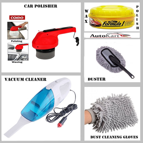 buy combo of car duster wax polish vacuum cleaner microfiber gloves car polisher online. Black Bedroom Furniture Sets. Home Design Ideas