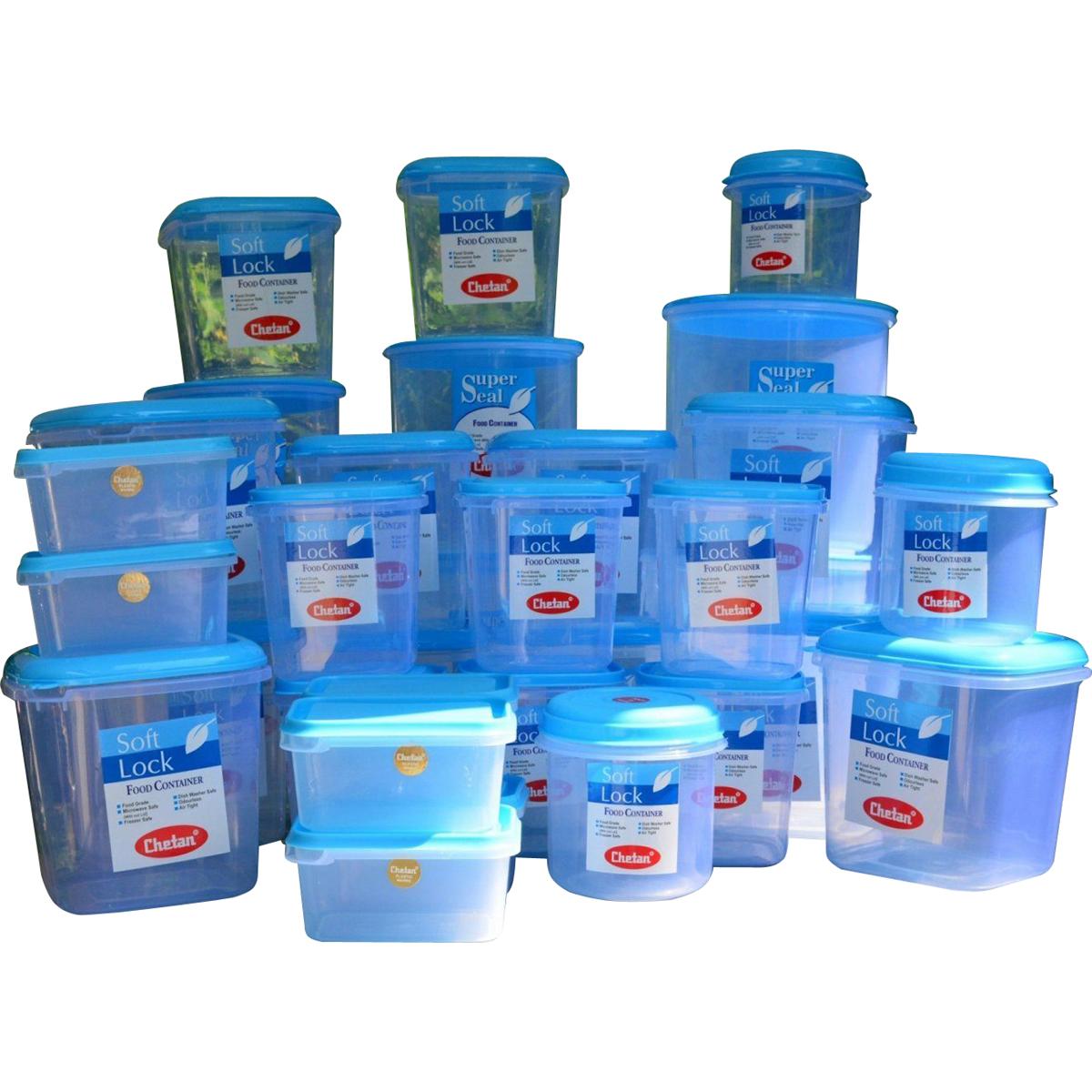Buy chetan 33pcs jumbo kitchen storage container set for Plastic kitchen set