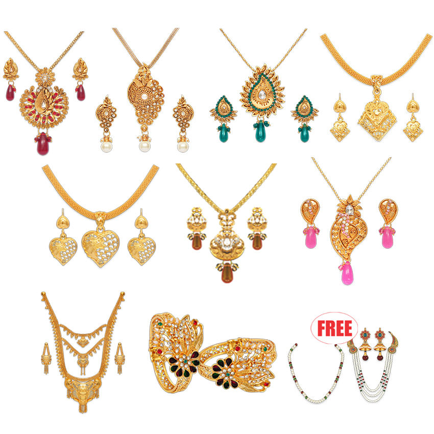 Buy Fascinating 1 Gram Gold Plated Jewellery Collection
