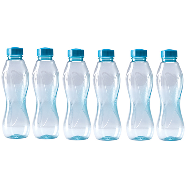 buy milton set of 6 unique shape 1ltr water bottle grjpet