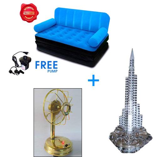Air Sofa Naaptol: Combo Of Buyersden Living Room Inflatable Velvet Sofa Cum