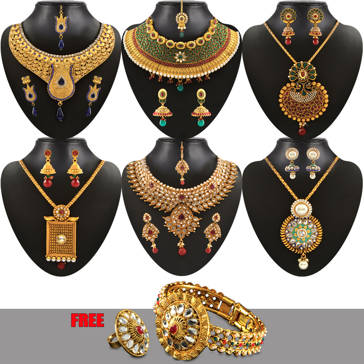 Bridal Collection Jewellery: Buy Jodha Heavy Bridal Jewellery Collection Online At Best