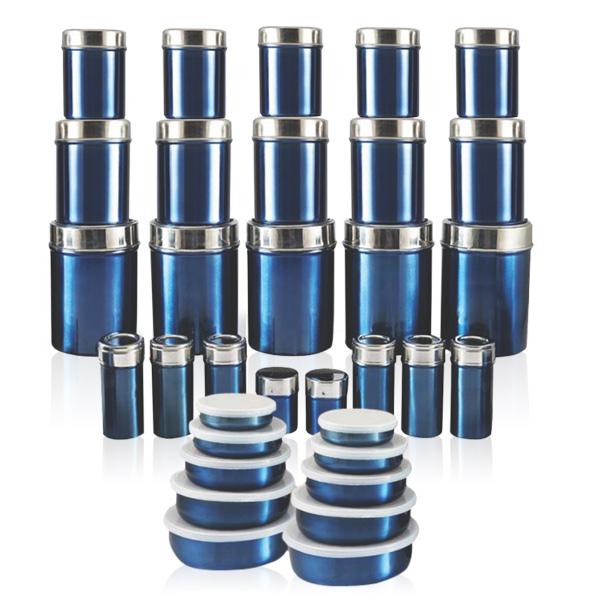 Buy zain 66 pcs steel storage set online at best price in for Kitchen set naaptol
