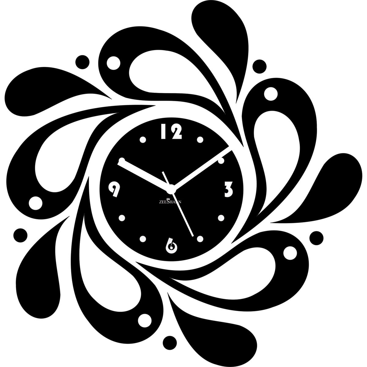 Buy Zeeshaan Designer Wall Clock Black Online at Best