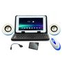 Combo Of Ambrane A-707 Tablet + Tablet Keyboard + Wired Mouse + USB Speaker + Screen Guard + OTG Cable