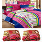 Combo of 2 Double Blanket & Double Bedsheet With 2 Pillow Cover-CA_2_1211-CN1253