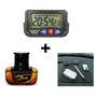 Combo Of Dashboard Digital Clock + Anti-Slip Dashboard Mat + Fresh Bottle Amber Car air freshner