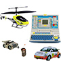 Combo of Infrared Helicopter + Radio Control Car + Advance Laptop for Kids + Night Scope Binocular
