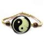 Fengshui Yin Yang Bracelet Symbol Of Good Luck And Balance In Life - Black & Cream