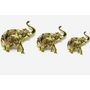 GRJ India Set of 3 handicraft Brass Stone Elephant