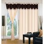 IWS Set of 3 Designer Door curtains-Multicolor- RNG-c01-385