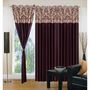 IWS Set of 3 Designer Door curtains-Multicolor- RNG-c01-387