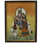 Little India Divine Lovers Radha Krishna Gemstone Painting