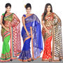 Ravisha Collection of 3 Foil Print Sarees (3FPS1)