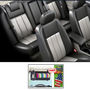 Samsun Car Seat Cover for Mahindra Bolero  - Grey & Black