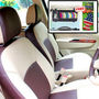 Samsun Car Seat Cover for Tata Venture  - Beige & Brown