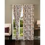 Set of 2 IWS Designer Door Curtain -Multicolor- IWS-CT-298