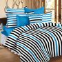 Storyathome Printed Cotton Double Bed Sheet With 2 Pillow Covers-MT1202