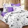 Storyathome Printed Cotton Double Bed Sheet With 2 Pillow Covers-MT1207