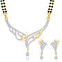 Sukkhi Gold Finished Mangalsutra Set - White & Golden - 131M1950