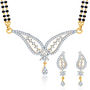 Sukkhi Gold Finished Mangalsutra Set - White & Golden - 145M2050